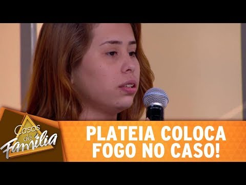 Plateia Coloca Fogo No Caso!   Casos De Família (09/11/17)