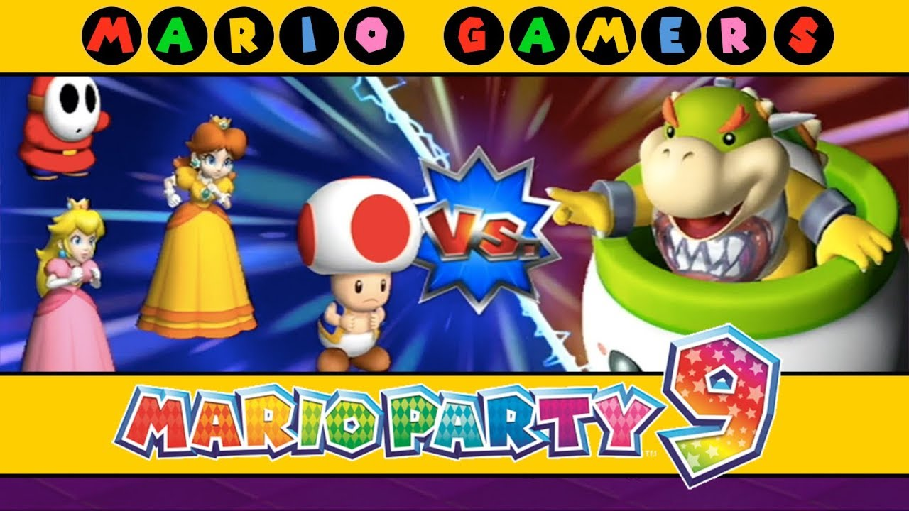 Mario Party 9 Bowser Station Toad Peach Daisy Shy Guy Youtube