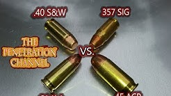 40 S&W vs. 357 Sig vs. 9MM vs. 45 ACP (Part 2) (FMJ Aluminum Test)
