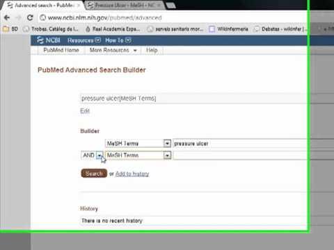 Búsqueda avanzada en PubMed