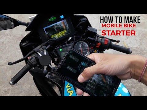 #yamaha How To Make Mobile Bike Starter || Bike Operat With Mobile Phone