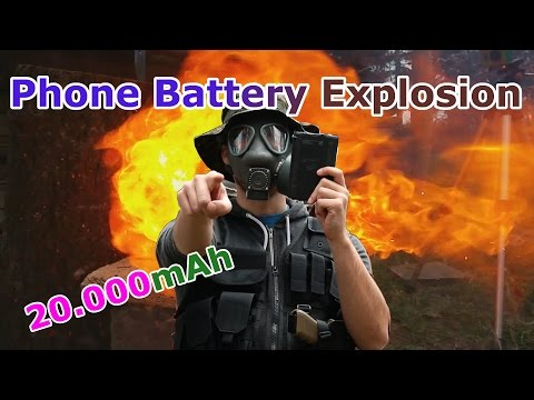 Shooting a phone battery results in Explosion - 20000mAh LI-Ion Battery - Dangerous Batteries [HD]