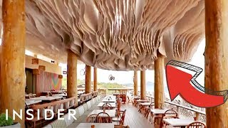 Wave Ceiling Keeps Outdoor Spaces Cool Without Fans