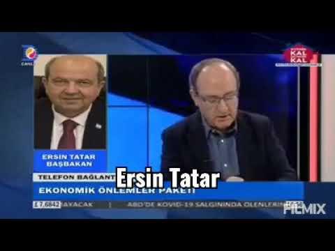 Kuzey Kıbrıs Türk Cumhuriyeti Başbakan'ı ERSİN TATAR 'ın  canlı yayına telefonla bağlantısı