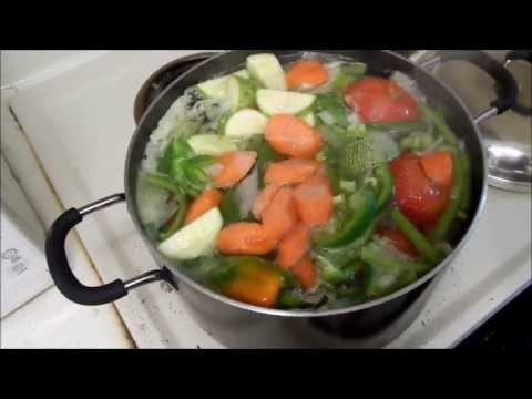 bency caldo o sopa de verduras o vegetales - YouTube