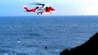 Irish Coast Guard Helicopter Training in Howth