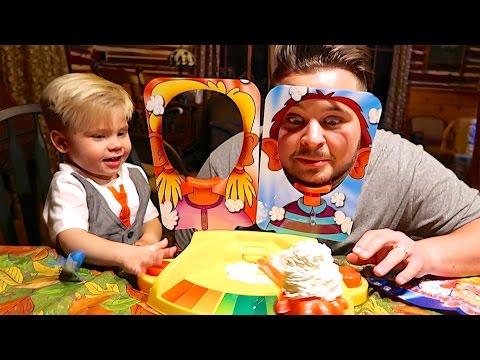 PIE FACE SHOWDOWN! Toddler Vs. Dad!