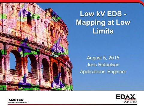Low kV EDS - Mapping at Low Limits