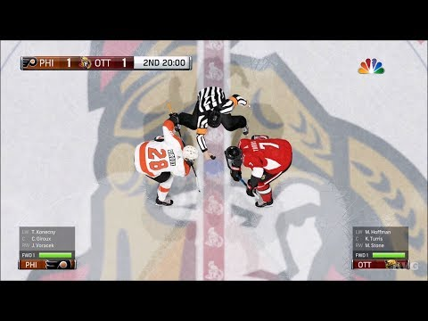 NHL 18 - Ottawa Senators vs Philadelphia Flyers - Gameplay (HD) [1080p60FPS]