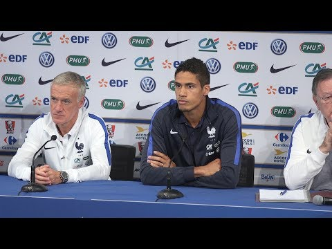 Raphael Varane Pre-Match Press Conference - France v England