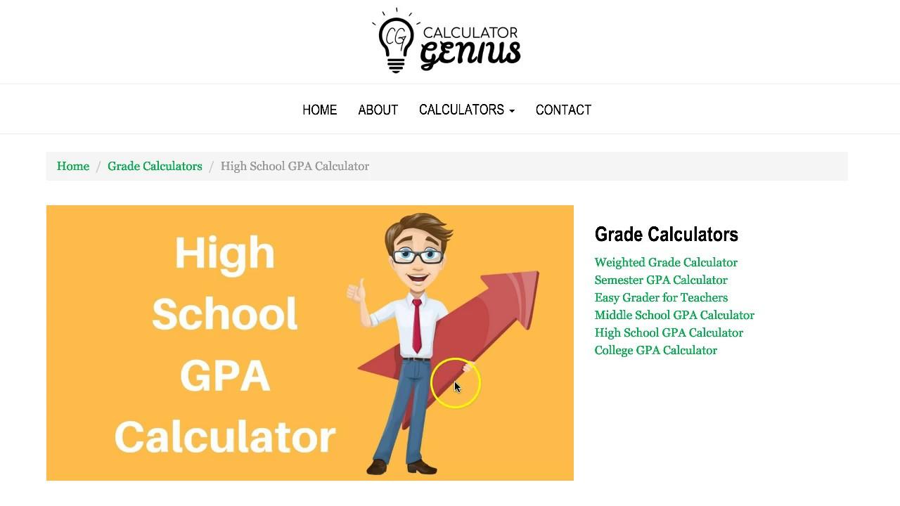 High school gpa calculator youtube high school gpa calculator ccuart Gallery