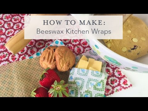 How to make Beeswax Kitchen Wraps
