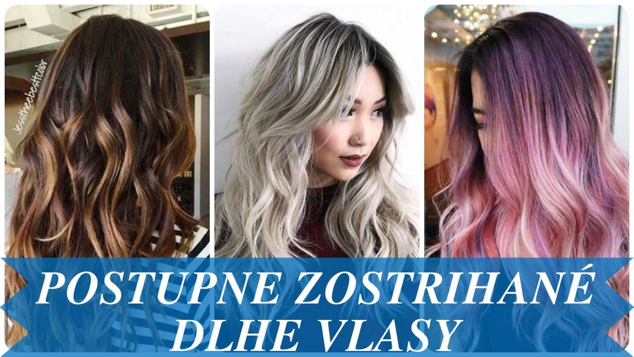 Postupne zostrihané dlhe vlasy - YouTube
