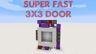Redstone Tutorial: Super Fast 3x3 Piston Door