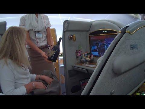 DUBAI ROME EK97 A380 FIRST CLASS 29032015