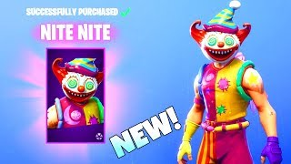 THE CLOWNS ARE HERE! NEW SKINS! Nite Nite/Peekaboo (Item Shop) Fortnite Battle Royale