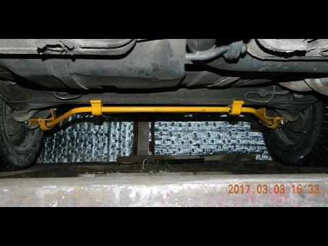 Установка стабилизатора на балку, усилитель рулевой рейки Ваз 2111