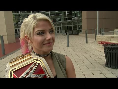 After retaining title at Great Balls of Fire, champion Alexa Bliss in Houston for Monday Night RAW