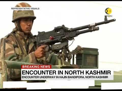 Breaking News: Encounter underway in Hajin Bandipora, North Kashmir; Army personnel injured