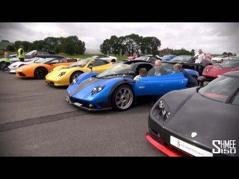 World's Best Car Park? 4 Zondas, 3 Enzos, Veyron, CCR Revo, Gumpert, XJ220S etc!
