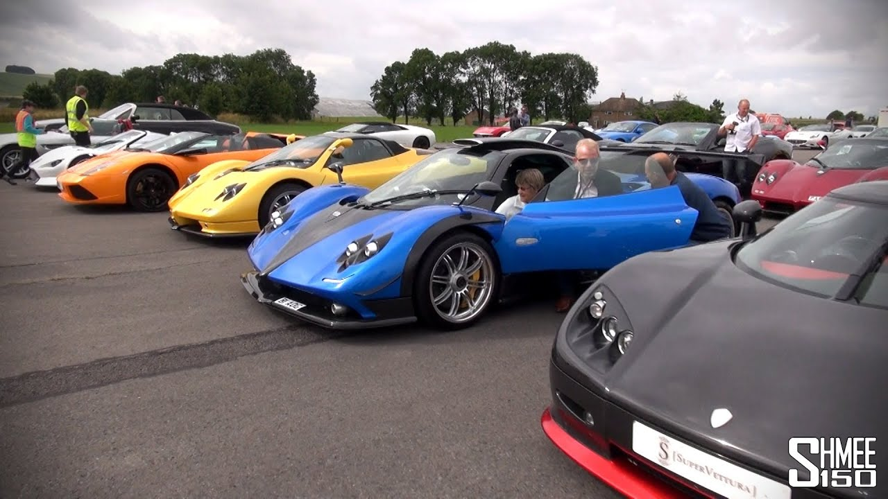 Worldu0027s Best Car Park? 4 Zondas, 3 Enzos, Veyron, CCR Revo, Gumpert, XJ220S  Etc!   YouTube