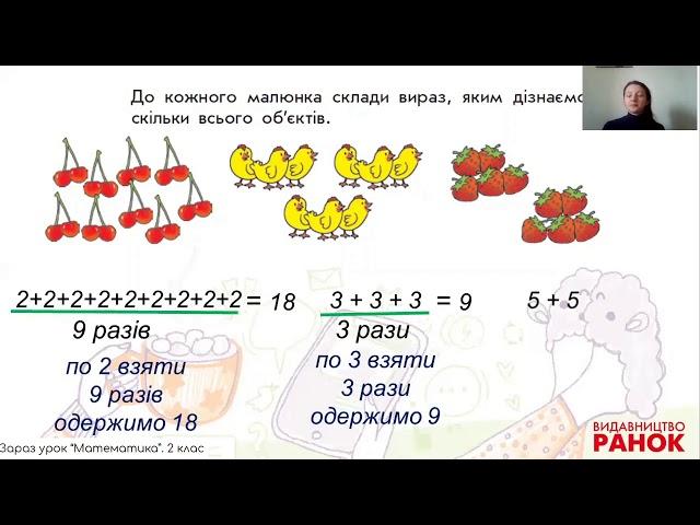 2 клас. Математика. Знайомимось із дією множення