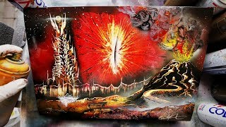 Eye of Sauron  SPRAY PAINT ART by Skech - LORD OF THE RINGS