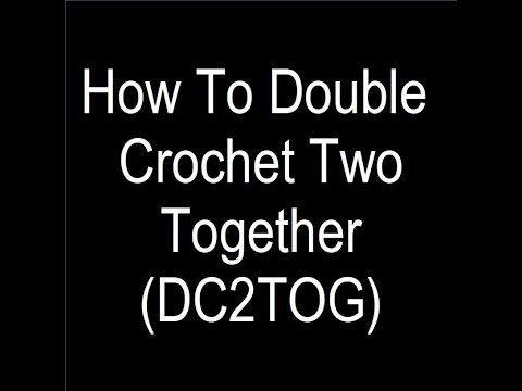 Double Crochet Two Together (DC2TOG) Video - Rogue Hook Crochet