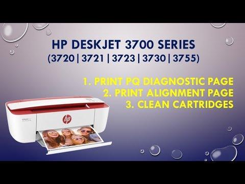 HP Deskjet 3720 | 3721 | 3730 | 3755 | Print PQ Diagnostic, alignment page & clean cartridges