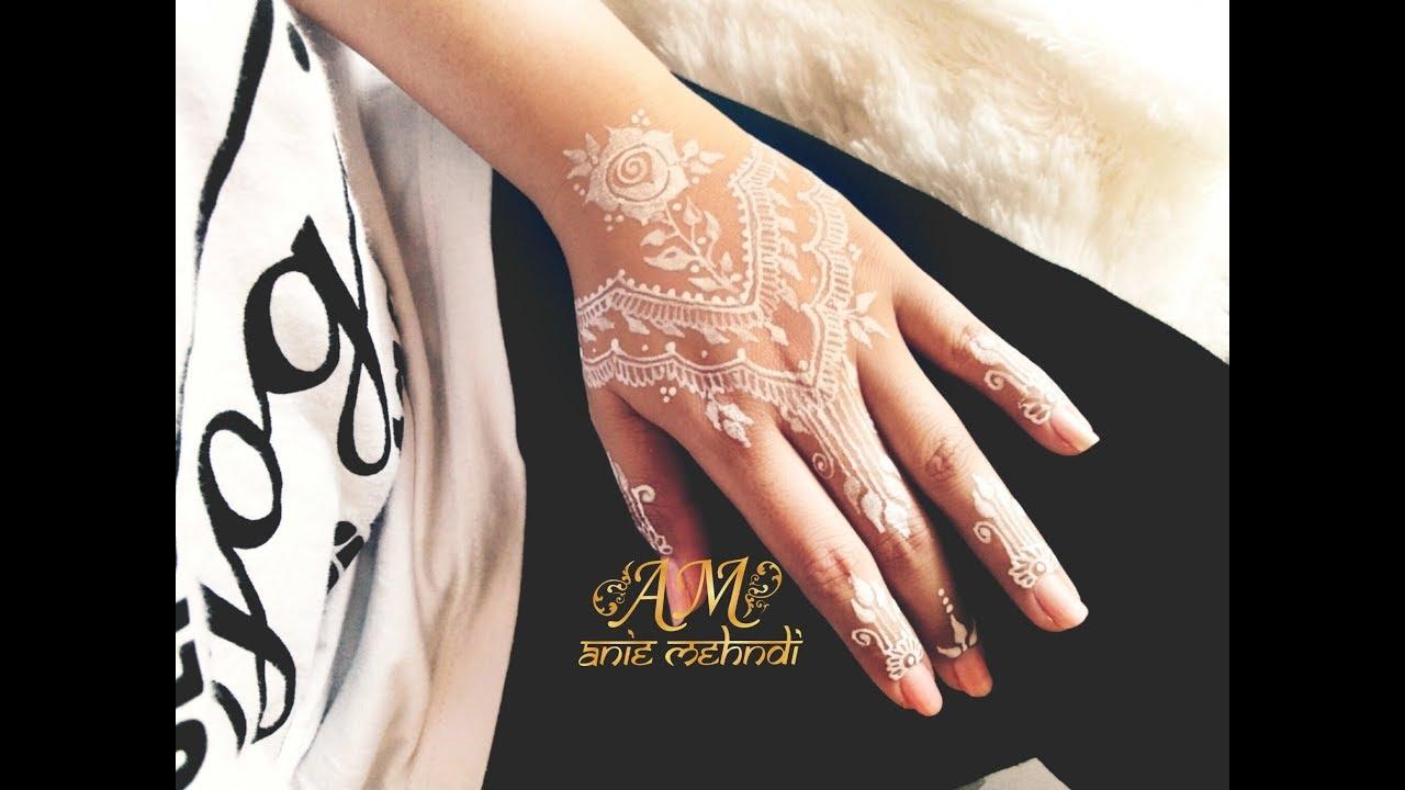 Simple White Henna For Wedding Easy Diy Henna 67 Youtube