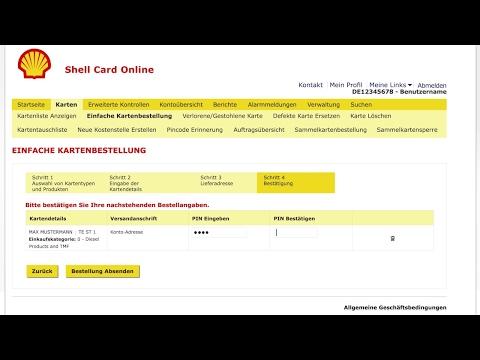 Kartenbestellung: Wie bestellt man die Shell Card?