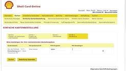 Kartenbestellung in Shell Card Online