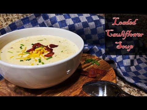 How To Make Keto Loaded Cauliflower Soup | Keto Cauliflower Chowder