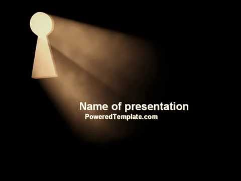 Keyhole In The Dark Powerpoint Template By Poweredtemplate Youtube
