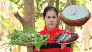 Amazing Cooking Fish Soup With Khmer Noodle Recipe  - Cook Fish Soup Recipes -  Village Food Factory