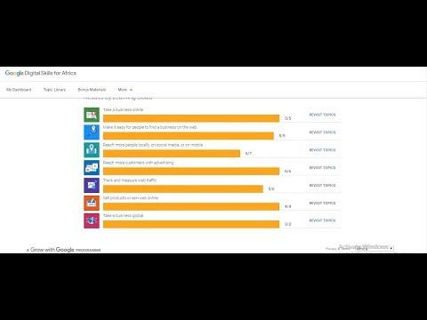 Digital Unlocked Certificate Answers(3rd Video) - Google Digital Skills For Africa