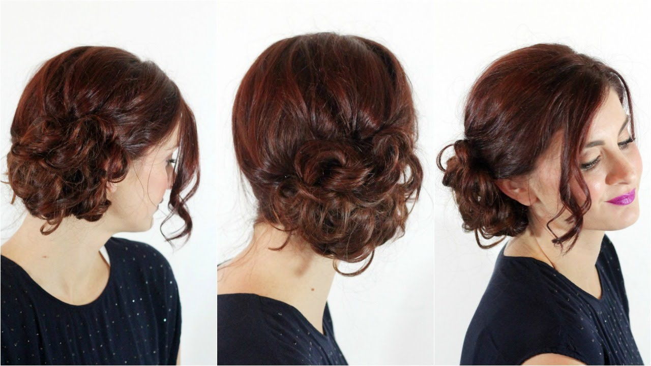easiest messy side bun