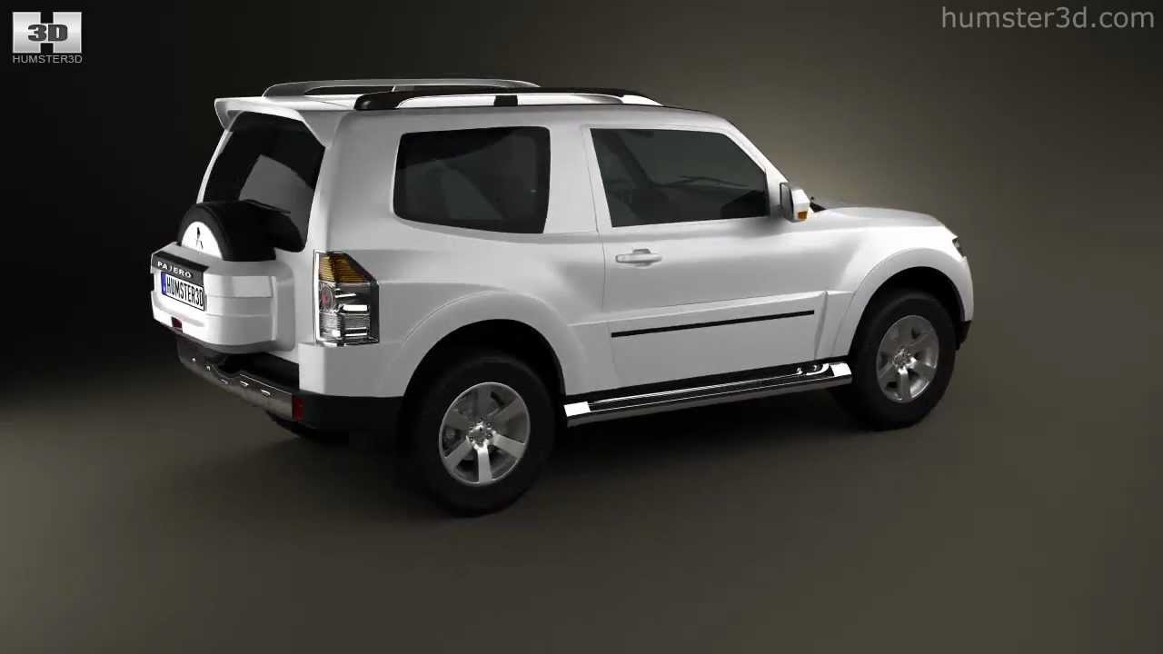 Mitsubishi pajero 3door 2009 by 3d model store humster3d com