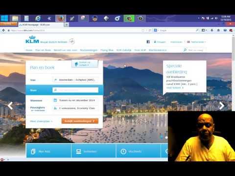 Voor KLM EN SLM - HOE KOOP IK EEN VLIEG TICKET ONLINE MET IDEAL OF MASTERCARD VISA 2013