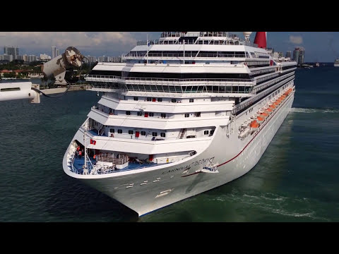 Watch Carnival Glory Maneuver In Miami Cruise Port