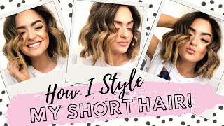 How I Style My Short Hair | Super Cute Messy Waves!