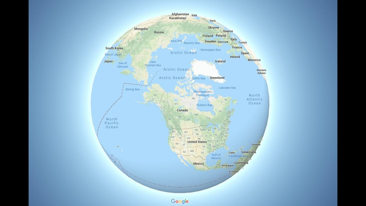 Map Of Canada On Globe.Why Did Google Maps Switch To A Globe Youtube