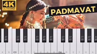 Padmavati background track - Piano Tutorial(⏰ 3:00)