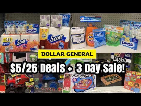 Dollar General   $5/25 All Digital Couponing + 3 Day Sale - Instant Savings   Penny Toys! 🙌🏽