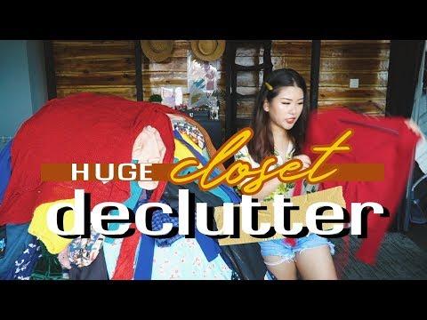 HUGE CLOSET DECLUTTER | How I Purge & Organise