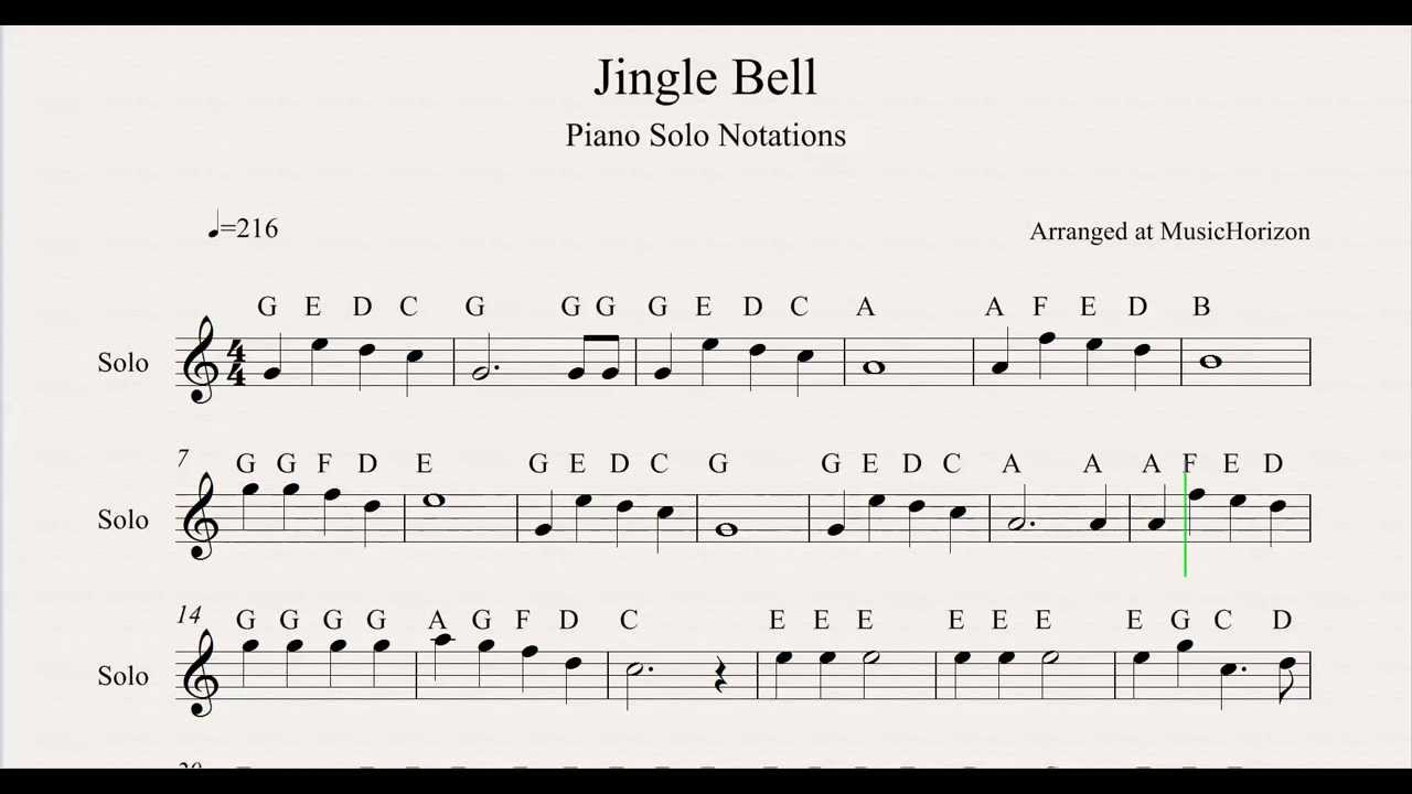 Jingle Bells Music Sheet Mersnoforum