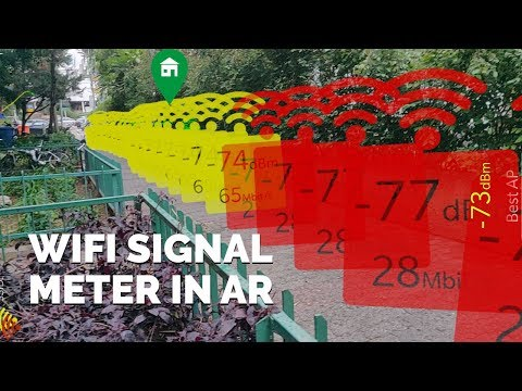 WiFi Signal Strength Meter Mapping AR Apps for Android - YouTube