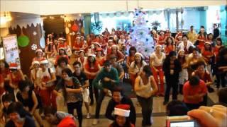 PROUD MARY BURNIN' - LINE DANCE FLASH MOB -IN JOHOR BAHRU MALAYSIA