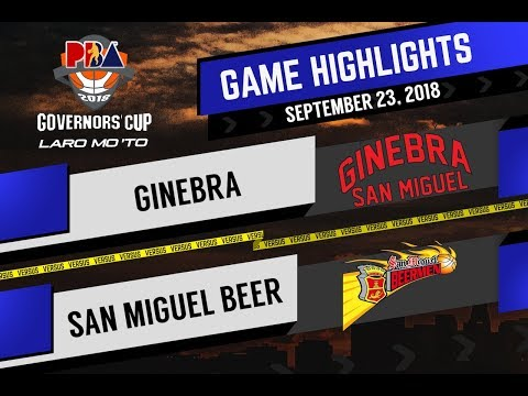 PBA Governors' Cup 2018 Highlights: Ginebra vs San Miguel Sept 23, 2018