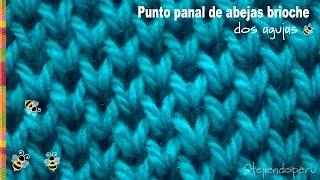 Repeat youtube video Punto panal de abejas brioche tejido en dos agujas - Tejiendo Perú!